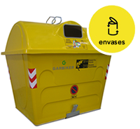 Contenedor de reciclaje de envases