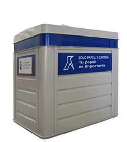 Contenedor de reciclaje - Metálico