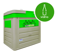 Contenedor de reciclaje de vidrio