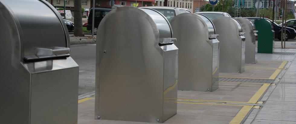 Contenedores soterrados de reciclaje