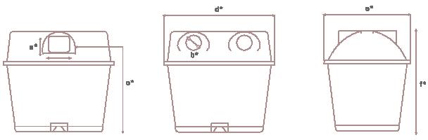 Contenedor de reciclaje - Duo3500