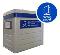 Contenedor de reciclaje de cartón y papel